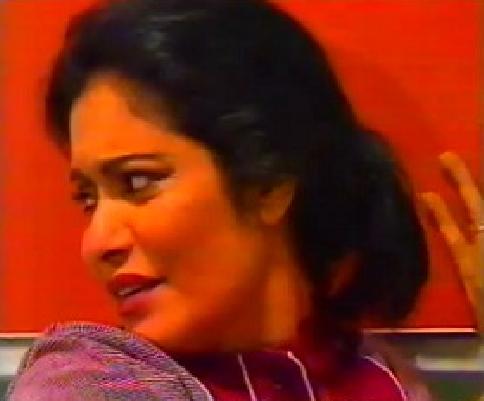 عائشة إبراهيم في أحد أدوارها الدرامية