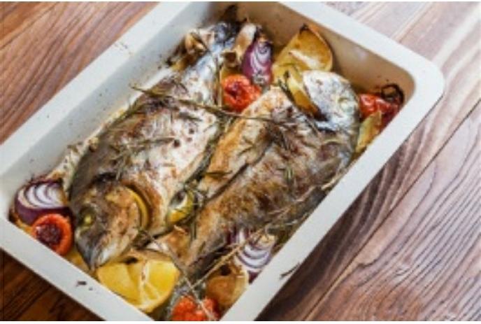 سمك النقرور المشوي بحشوة رائعة من المطبخ الكويتي
